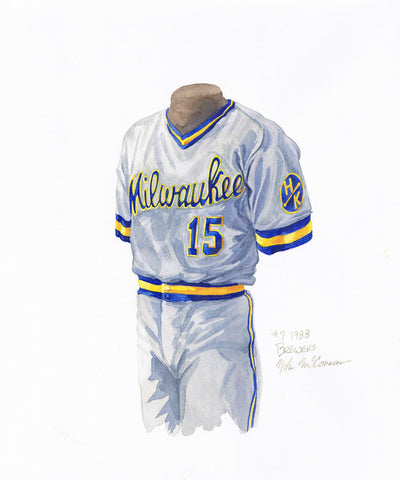 Milwaukee Brewers 1988 - Heritage Sports Art - original watercolor artwork - 1