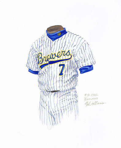 Milwaukee Brewers 1992 - Heritage Sports Art - original watercolor artwork - 1