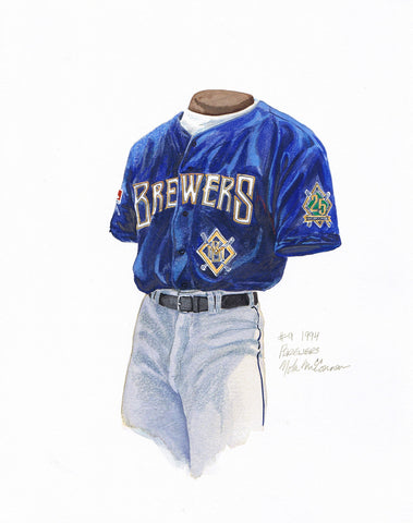 Milwaukee Brewers 1994 - Heritage Sports Art - original watercolor artwork - 1
