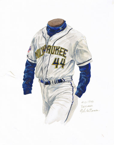 Milwaukee Brewers 1997 - Heritage Sports Art - original watercolor artwork - 1