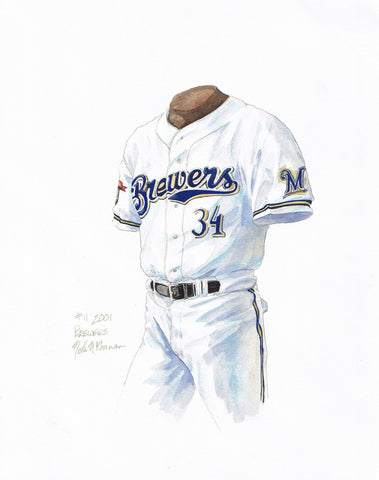 Milwaukee Brewers 2001 - Heritage Sports Art - original watercolor artwork - 1
