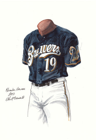 Milwaukee Brewers 2007 - Heritage Sports Art - original watercolor artwork - 1