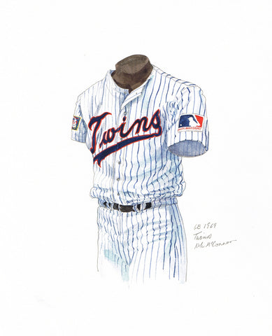 Minnesota Twins 1969 - Heritage Sports Art - original watercolor artwork - 1