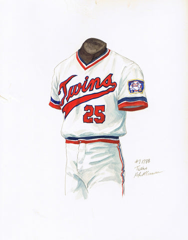 Minnesota Twins 1978 - Heritage Sports Art - original watercolor artwork - 1