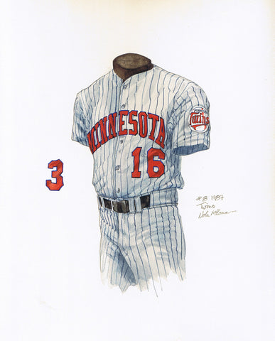 Minnesota Twins 1987 - Heritage Sports Art - original watercolor artwork - 1