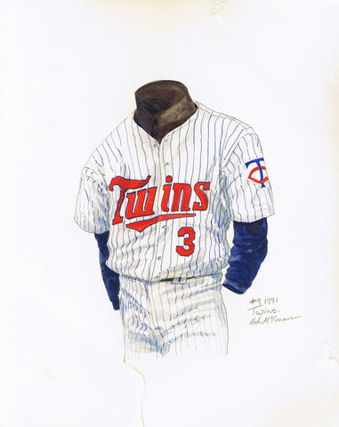 Minnesota Twins 1991 - Heritage Sports Art - original watercolor artwork - 1