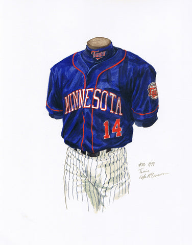 Minnesota Twins 1999 - Heritage Sports Art - original watercolor artwork - 1