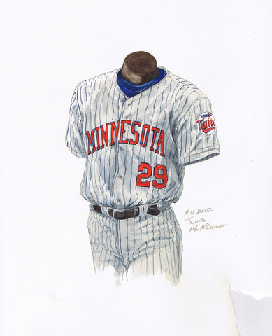Minnesota Twins 2002 - Heritage Sports Art - original watercolor artwork - 1