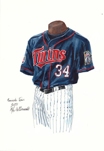 Minnesota Twins 2007 - Heritage Sports Art - original watercolor artwork - 1