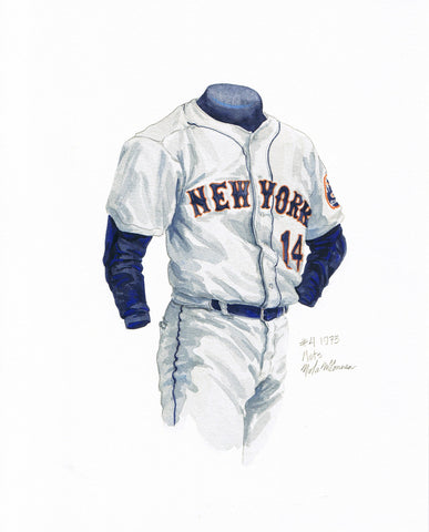 New York Mets 1973 - Heritage Sports Art - original watercolor artwork - 1