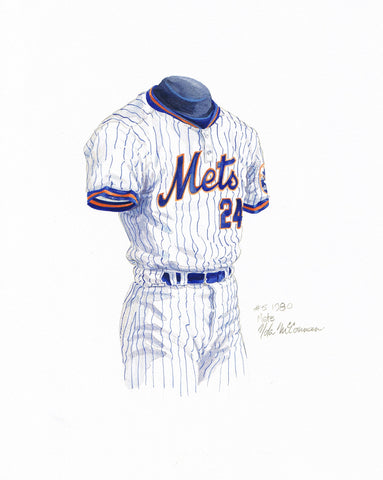 New York Mets 1980 - Heritage Sports Art - original watercolor artwork - 1