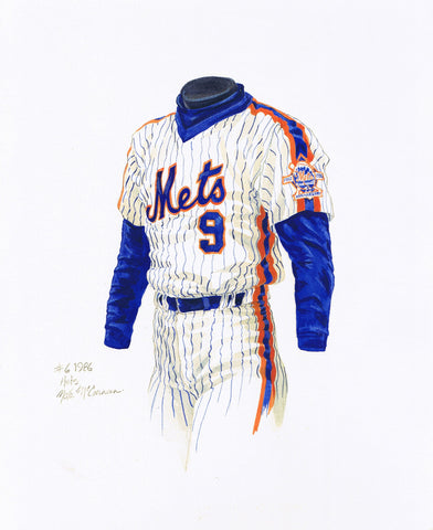 New York Mets 1986 - Heritage Sports Art - original watercolor artwork - 1