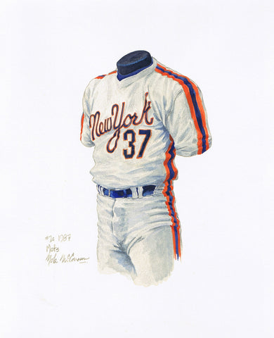 New York Mets 1987 - Heritage Sports Art - original watercolor artwork - 1