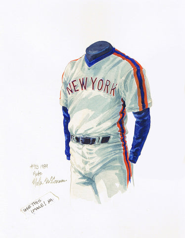 New York Mets 1989 - Heritage Sports Art - original watercolor artwork - 1