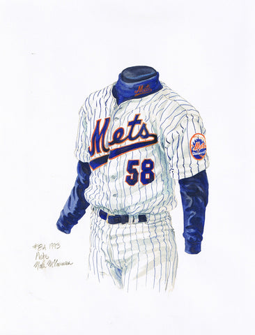 New York Mets 1993 - Heritage Sports Art - original watercolor artwork - 1