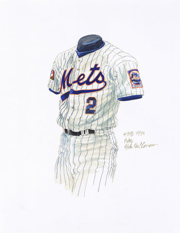 New York Mets 1994 - Heritage Sports Art - original watercolor artwork - 1