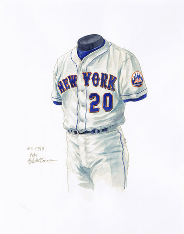 New York Mets 1998 - Heritage Sports Art - original watercolor artwork - 1