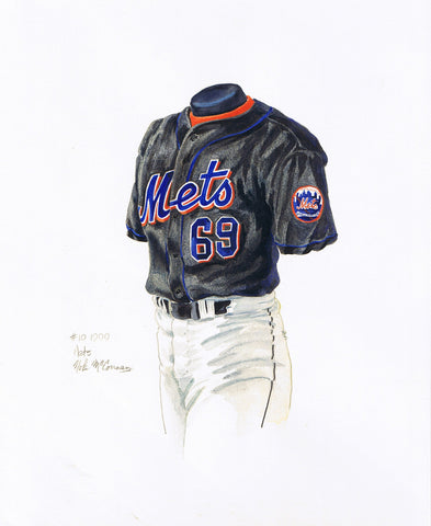 New York Mets 1999 - Heritage Sports Art - original watercolor artwork - 1
