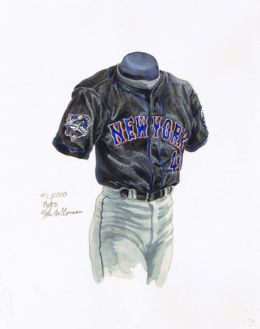 New York Mets 2000 - Heritage Sports Art - original watercolor artwork - 1