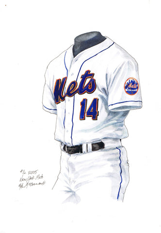 New York Mets 2005 - Heritage Sports Art - original watercolor artwork - 1