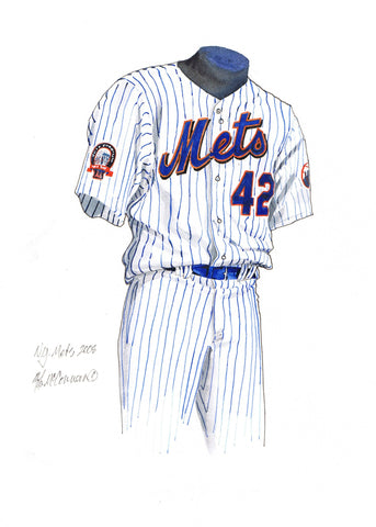 New York Mets 2008 - Heritage Sports Art - original watercolor artwork - 1