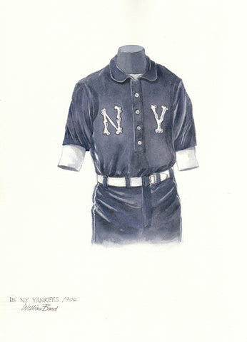 New York Yankees 1904 - Heritage Sports Art - original watercolor artwork - 1