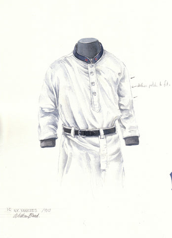 New York Yankees 1910 - Heritage Sports Art - original watercolor artwork - 1