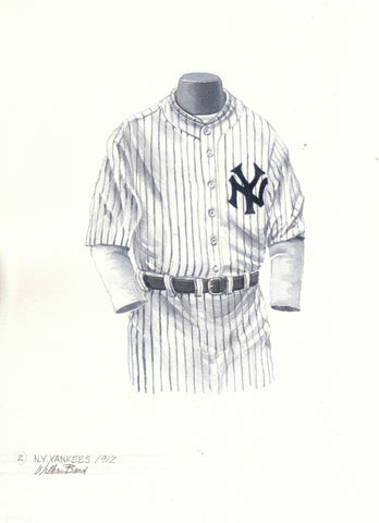 New York Yankees 1912 - Heritage Sports Art - original watercolor artwork - 1