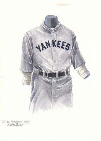 New York Yankees 1927 - Heritage Sports Art - original watercolor artwork - 1