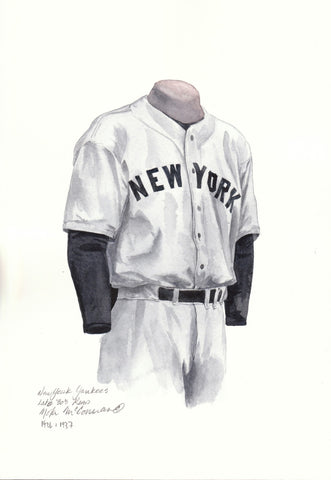New York Yankees 1936 - Heritage Sports Art - original watercolor artwork - 1
