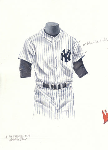 New York Yankees 1938 - Heritage Sports Art - original watercolor artwork - 1