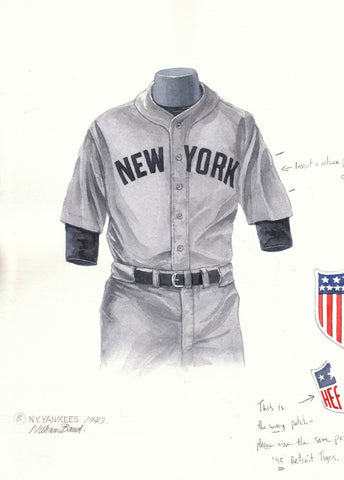 New York Yankees 1943 - Heritage Sports Art - original watercolor artwork - 1