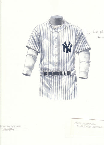 New York Yankees 1951 - Heritage Sports Art - original watercolor artwork - 1
