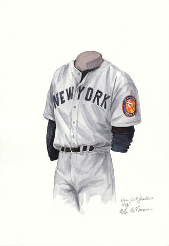 New York Yankees 1952 - Heritage Sports Art - original watercolor artwork - 1