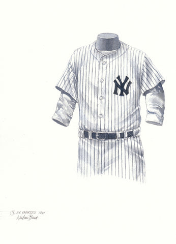 New York Yankees 1961 - Heritage Sports Art - original watercolor artwork - 1