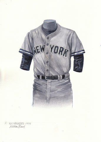 New York Yankees 1978 - Heritage Sports Art - original watercolor artwork - 1