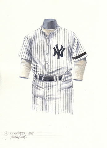 New York Yankees 1981 - Heritage Sports Art - original watercolor artwork - 1