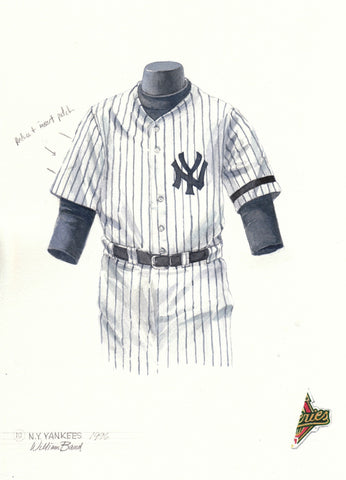 New York Yankees 1996 - Heritage Sports Art - original watercolor artwork - 1
