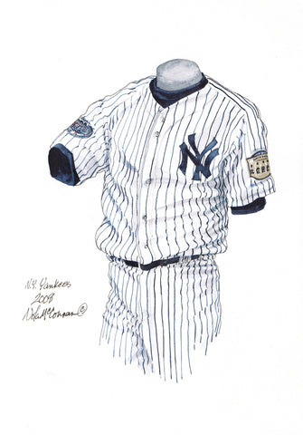 New York Yankees 2008 - Heritage Sports Art - original watercolor artwork - 1