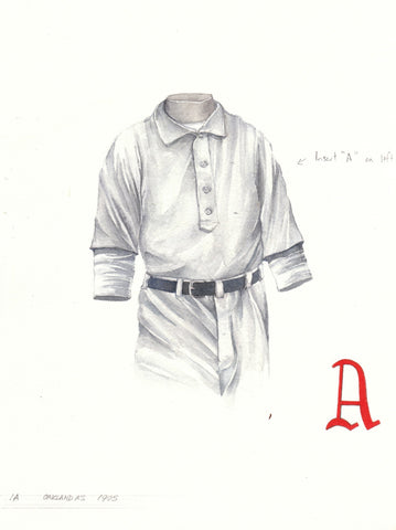 Oakland Athletics 1905 - Heritage Sports Art - original watercolor artwork - 1
