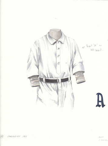 Oakland Athletics 1910 - Heritage Sports Art - original watercolor artwork - 1