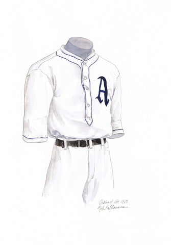 Oakland Athletics 1913 - Heritage Sports Art - original watercolor artwork - 1