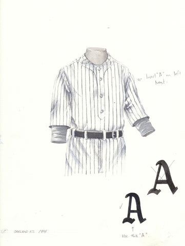 Oakland Athletics 1914 - Heritage Sports Art - original watercolor artwork - 1
