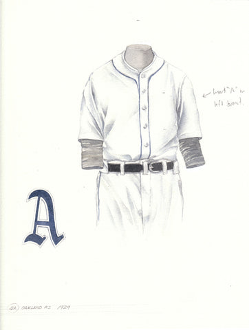 Oakland Athletics 1929 - Heritage Sports Art - original watercolor artwork - 1
