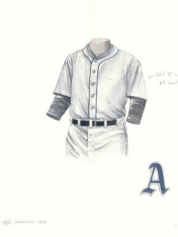 Oakland Athletics 1930 - Heritage Sports Art - original watercolor artwork - 1