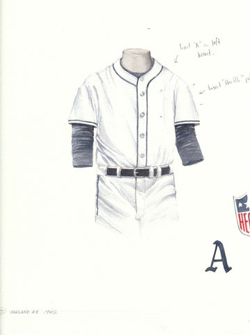 Oakland Athletics 1942 - Heritage Sports Art - original watercolor artwork - 1