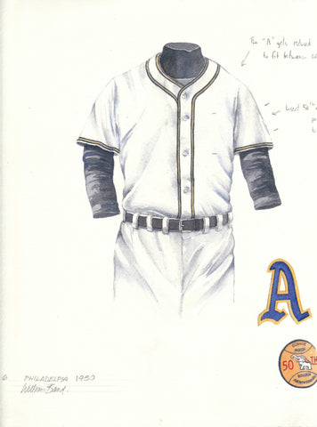 Oakland Athletics 1950 - Heritage Sports Art - original watercolor artwork - 1