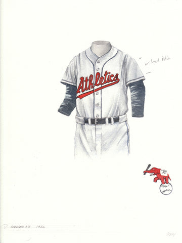 Oakland Athletics 1956 - Heritage Sports Art - original watercolor artwork - 1