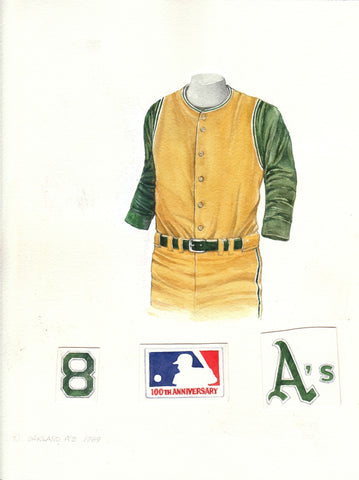 Oakland Athletics 1969 - Heritage Sports Art - original watercolor artwork - 1