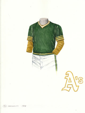 Oakland Athletics 1974 - Heritage Sports Art - original watercolor artwork - 1